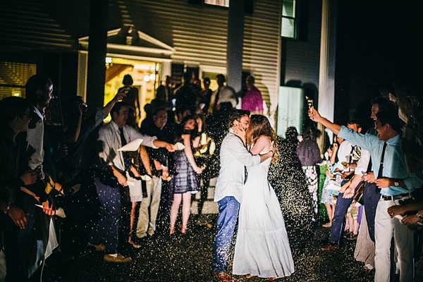 Indie Barefoot Farm Wedding Rice Confetti http://jackandhannah.com/
