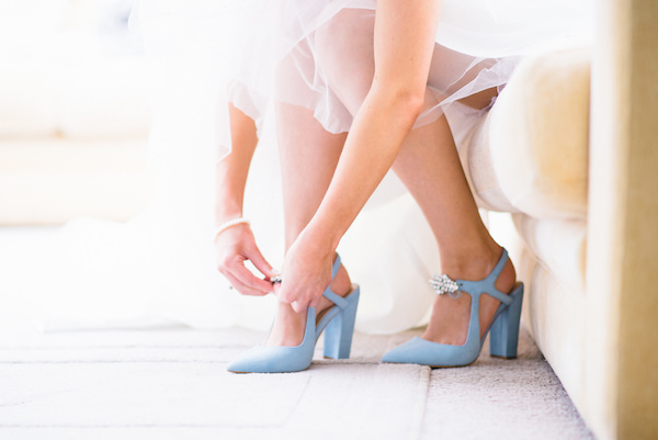 Country Garden Camping Marquee Wedding Bride Blue Shoes Zara http://www.chebirchhayesphotography.com/