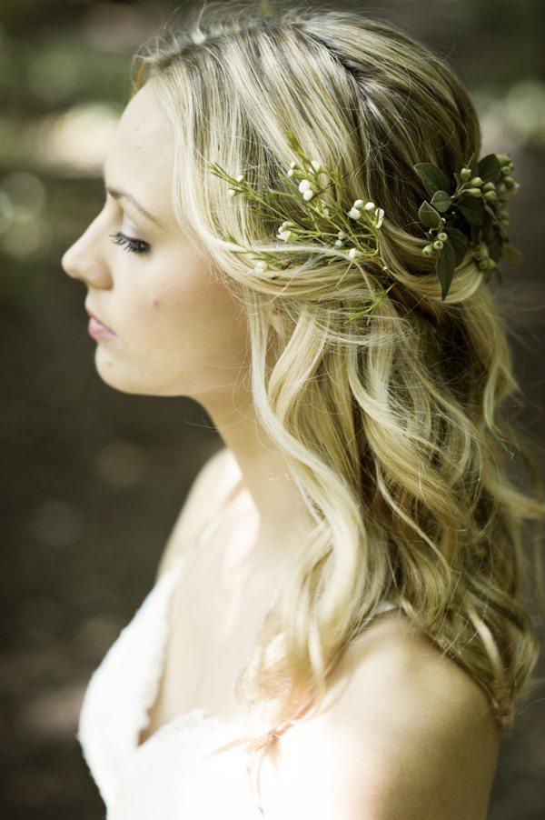 Beautiful Rustic Woodland Bridal Bride Boho Hair Wavy http://www.careysheffield.com/