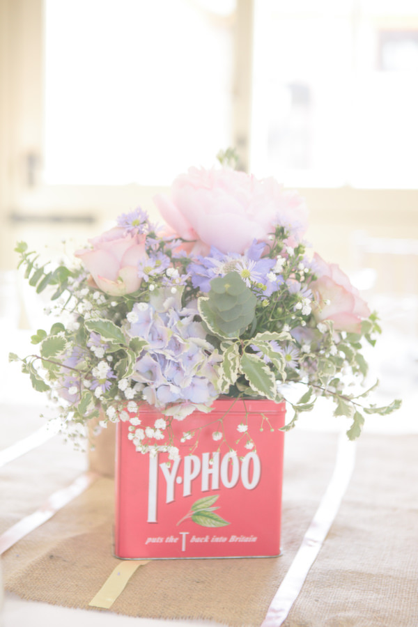 Pastel Peonies Tin Flowers Homemade Walled Garden Wedding http://www.suekwiatkowska.com/