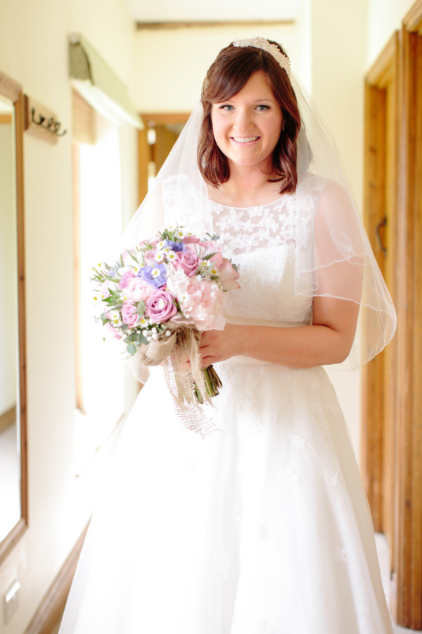 Lou Lou Dress Bride Pastel Homemade Walled Garden Wedding http://www.suekwiatkowska.com/