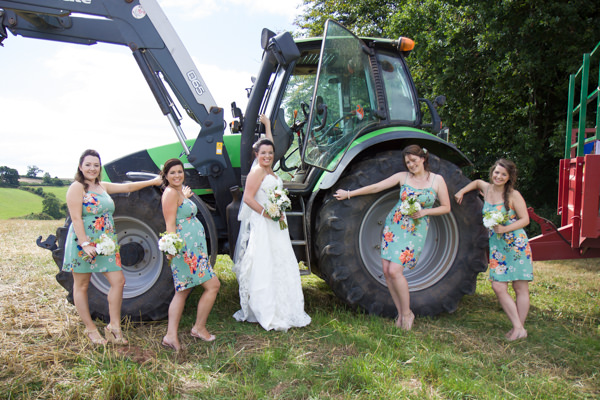 Shabby Chic Farm Wedding Tractor http://bluedaisyphotography.co.uk/