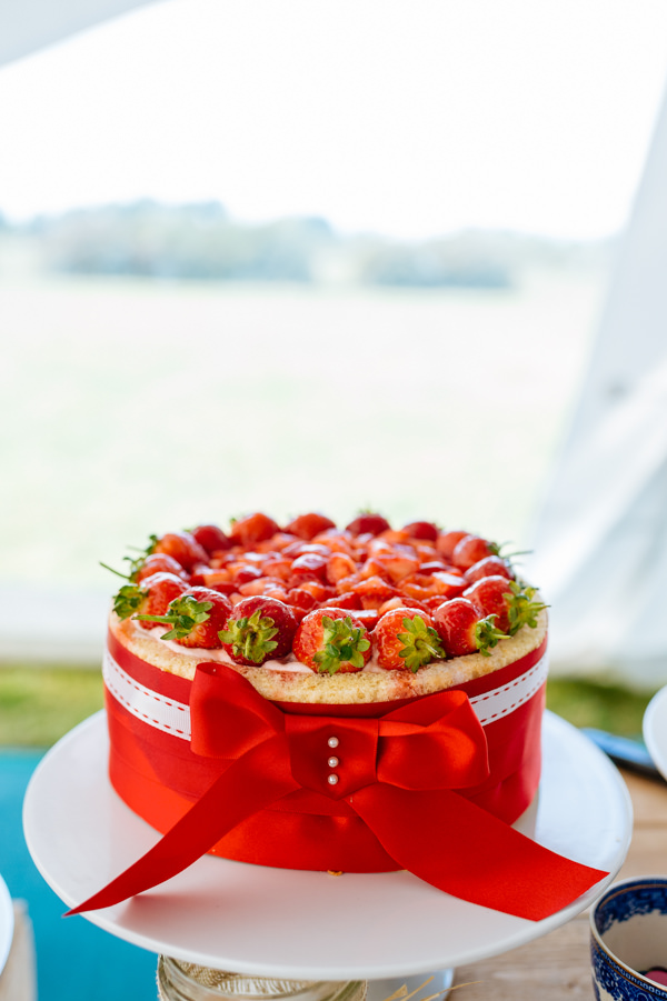 Picnic Countryside Fete Wedding Strawberry Cake http://www.daffodilwaves.co.uk/