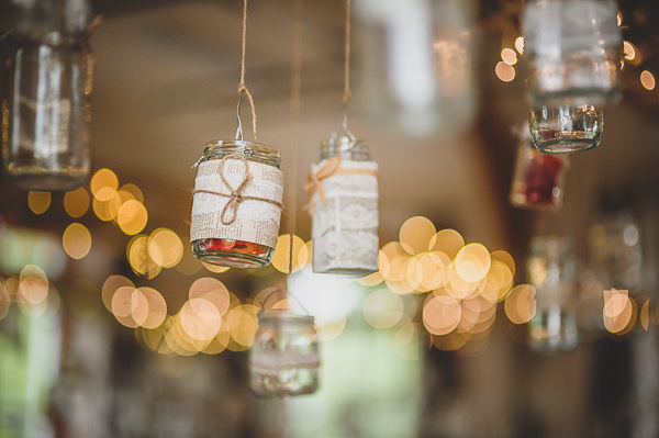 Magical Crafty Outdoorsy Village Hall Wedding Jam Jar Candles http://www.foxleyphotography.com/