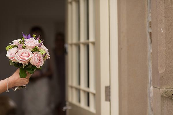 Personal Elegant Dales Wedding Pink Rose Bouquet http://pauljosephphotography.co.uk/