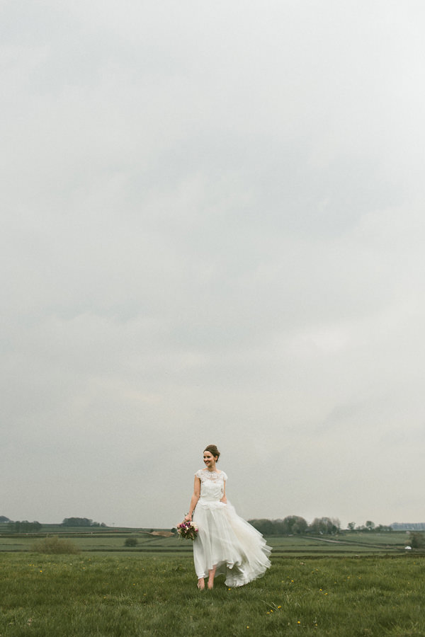 Quirky Stylish Barn Wedding Homemade Dress Bride http://www.mikeandtom.co.uk/