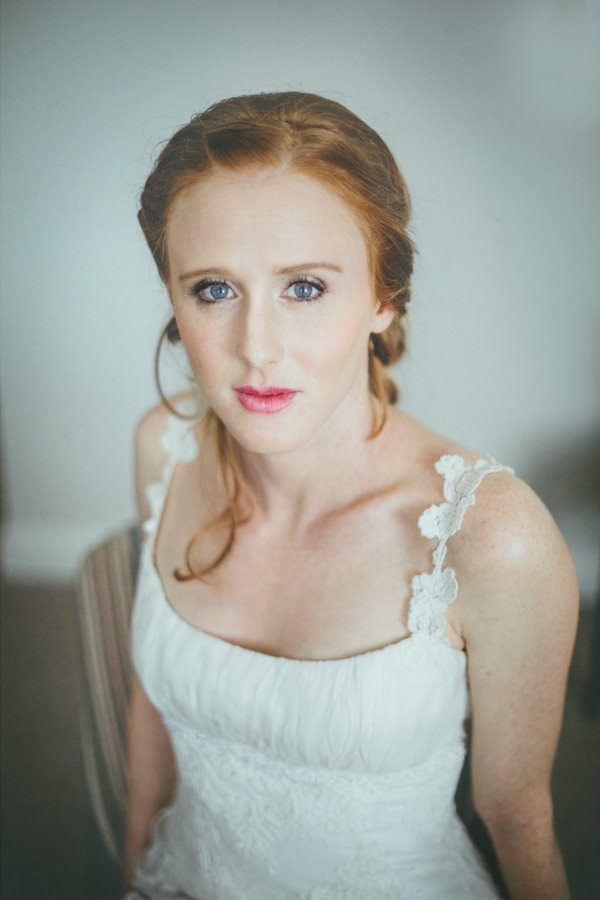 Intimate Cotswolds Village Garden Marquee Wedding Plait Braid Rustic Hair Bride http://www.traceyhosey.co.uk/