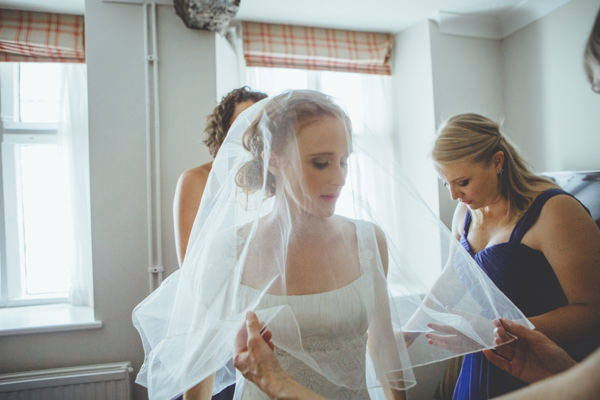 Intimate Cotswolds Village Garden Marquee Wedding Veil Bride http://www.traceyhosey.co.uk/