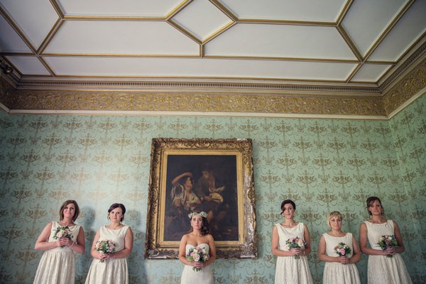 Vintage Glamour Afternoon Tea Wedding White Bridesmaids http://assassynation.co.uk/