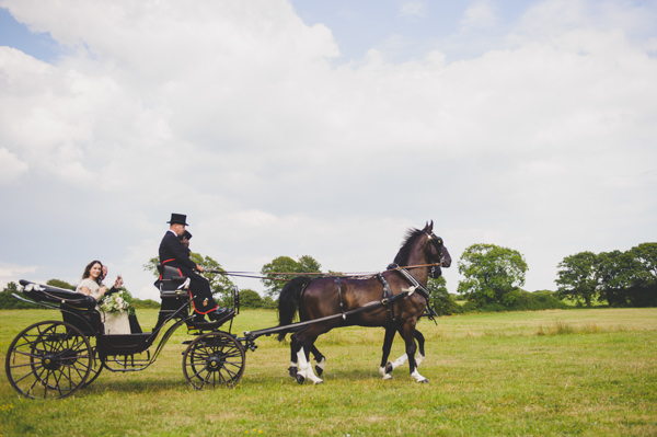 Horse & Cart Vintage Wildflower Meadow Wedding http://annamorganphotography.co.uk/
