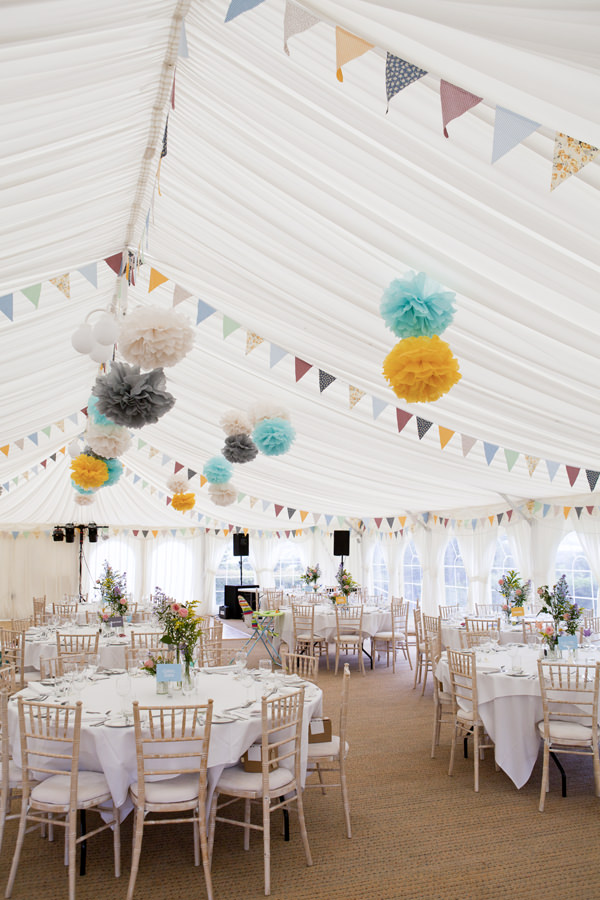 Crafty Colourful Country Wedding Marquee http://matildarosephotography.com/
