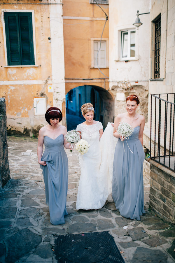 Grey Bridesmaid Dresses Italy Destination Wedding http://www.andreaellisonphotography.com/