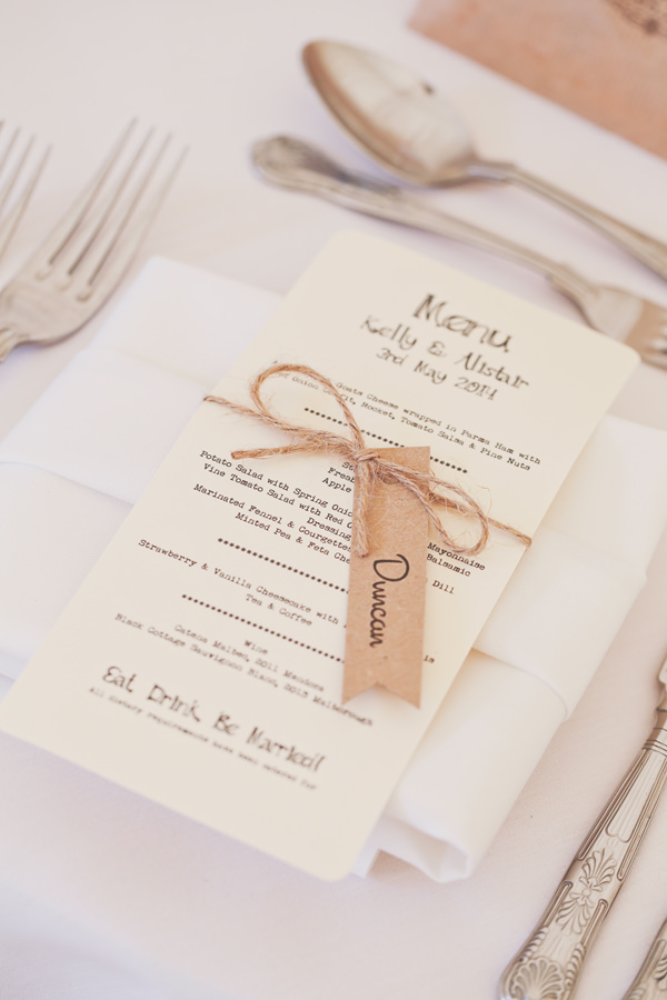 Pretty Marquee Wedding Brown Paper Twine Stationery http://www.victoriamitchellphotography.com/
