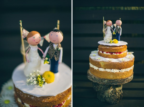 Quirky Campsite Outdoor Wedding Naked Victoria Sponge Cake http://www.lifelinephotography.co.uk/