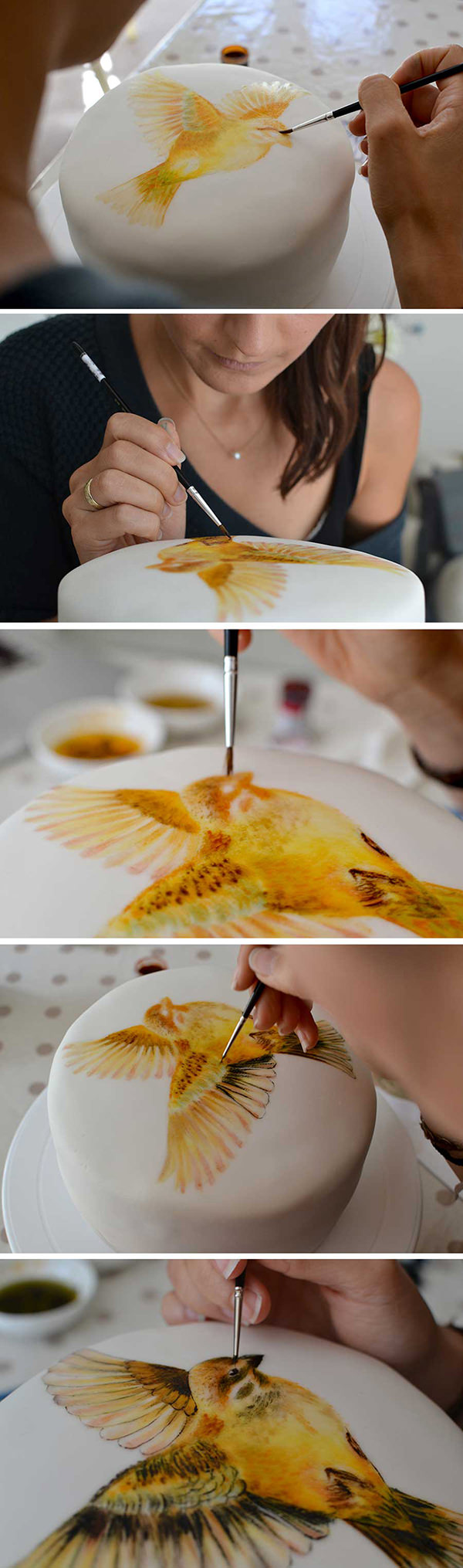 Hand Painted Cake Step by Step MurrayMe
