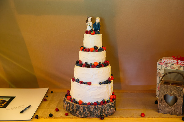 Country Rustic Tipi Wedding Rustic Cake http://www.redonblonde.com/
