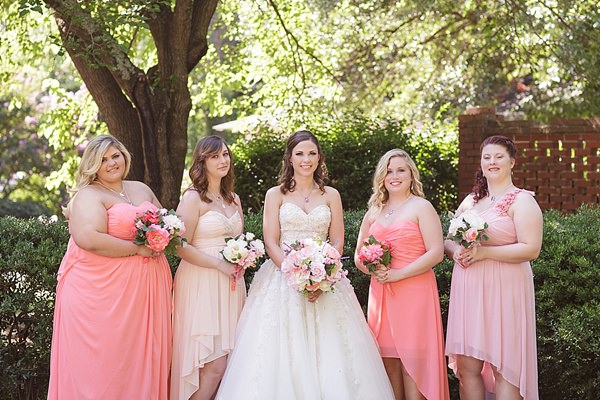 Fairytale Garden Party North Carolina Wedding Pink Bridesmaids http://www.revivalphotography.com/home/