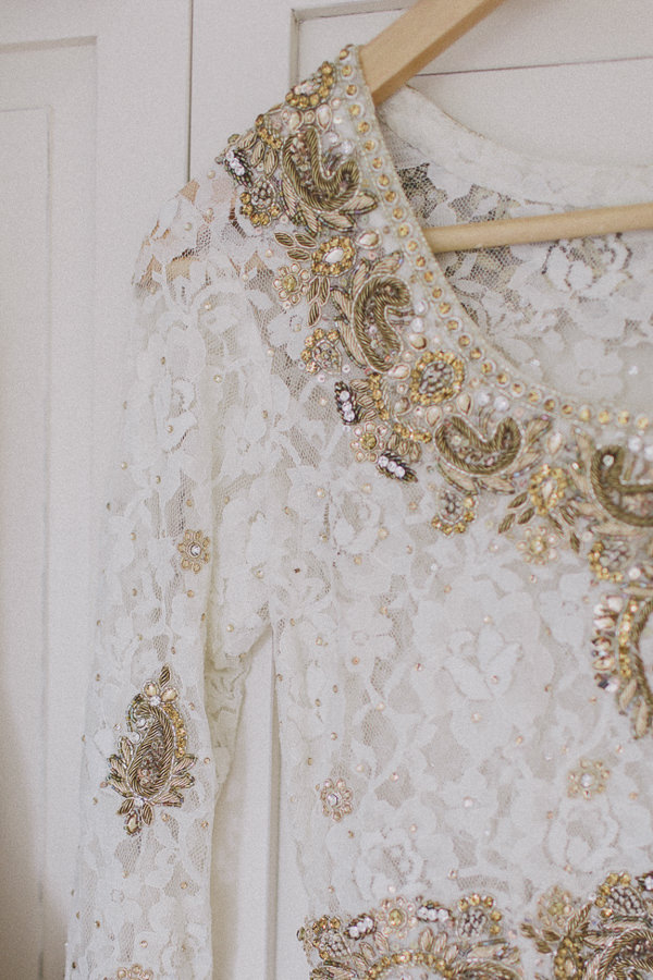 Beautiful English Indian Wedding Embellished Lace Dress Top http://www.scuffinsphotography.com/