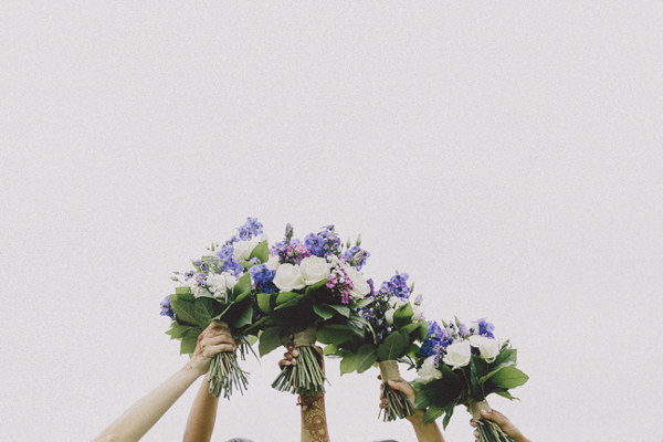 Beautiful English Indian Wedding Purple Bridal Bridesmaid Bouquets http://www.scuffinsphotography.com/
