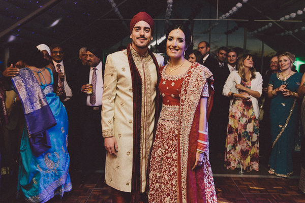 Lengha Bride Outfit Red Gold Beautiful English Indian Wedding http://www.scuffinsphotography.com/