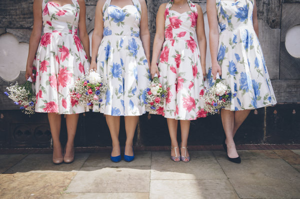 Floral Bridesmaids Classic Vintage Street Party Wedding http://www.ilovestories.co.uk/