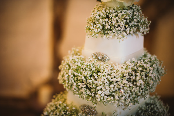 Home Grown White Flower Filled Wedding Baby Breath Gypsophila Cake White http://www.alextentersphotography.co.uk/