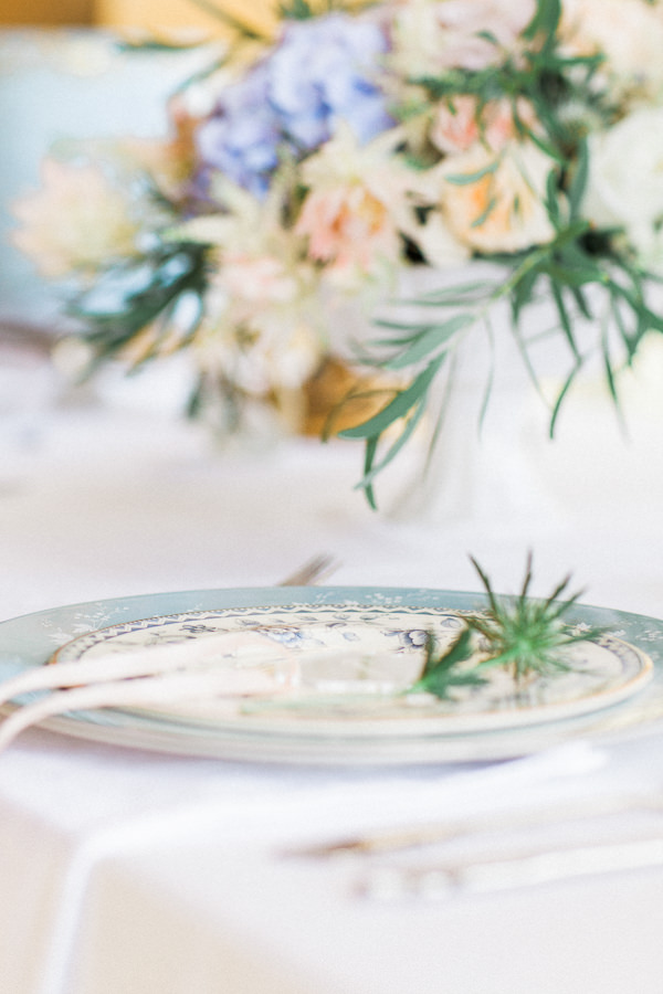 Delicate Fine Art Parisian Wedding Ideas Place Setting Plates China  http://www.bowtieandbellephotography.co.uk/