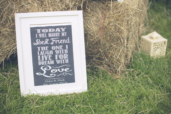 Humanist Outdoor Field Tipi Wedding Blackboard Sign http://www.83photography.co.uk/