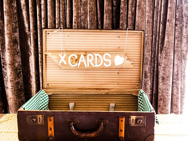 Quirky Rustic Lemon Yellow Wedding Suitcase Cards http://www.motifphoto.co.uk/