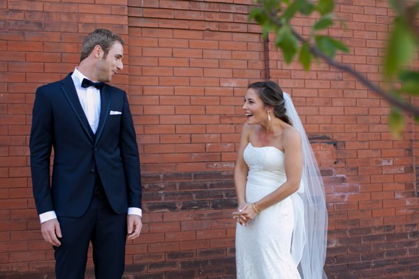 Simple Elegant Black Tie Minnesota Wedding First Look http://www.erinjohnsonphotoblog.com/