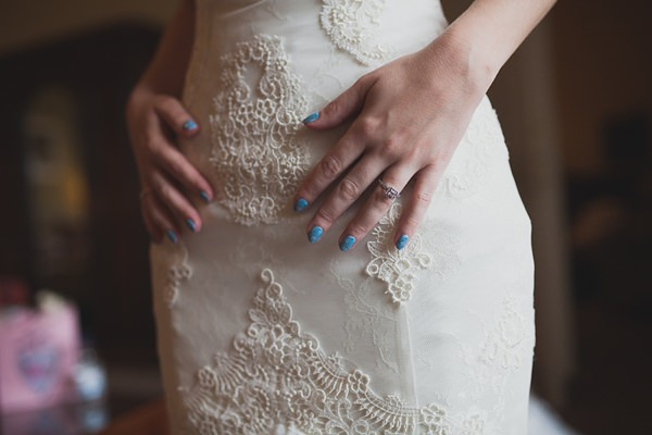 Royal Blue Vintage Glamour Wedding Blue Nails Bride http://www.sallytphotography.com/