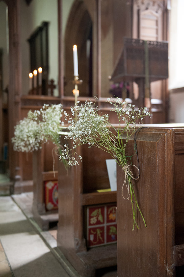 Pretty Country Garden Wedding Rustic Pew End Flowers Church http://fionasweddingphotography.co.uk/