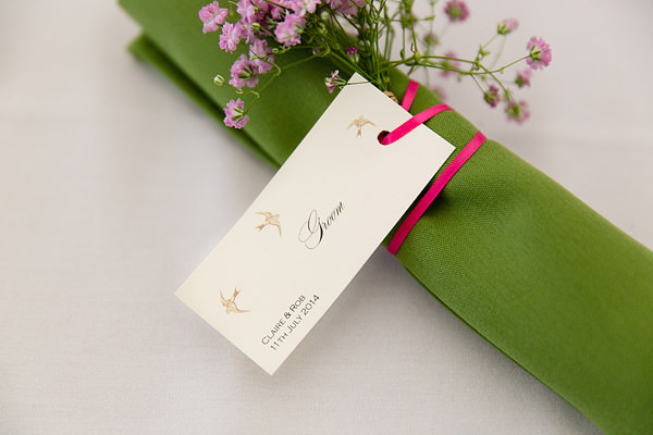 Magical Romantic Pink Green Fairy Lights Wedding Place Name http://www.touchphotography.co.uk/