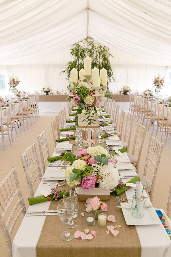 Magical Romantic Pink Green Fairy Lights Wedding Candelabra Flowers  http://www.touchphotography.co.uk/
