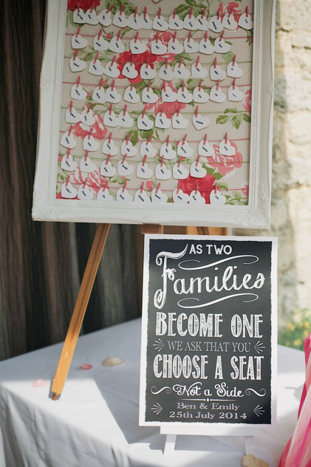 Heart Fabric Seating Table Plan Chart Pretty Pink Shabby Chic Barn Wedding http://verman.co.uk/