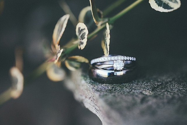 Engagement Rings Band Diamond Solitare Whimsical Green White Fairy Lights Winter Wedding http://jesspetrie.com/