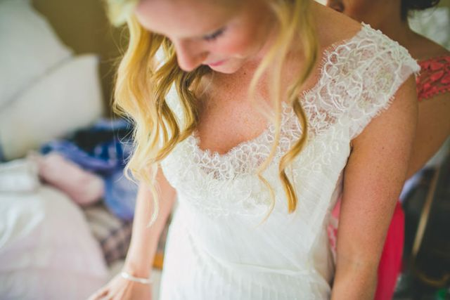 Lace Dress Bride Delicate Pretty Gown Nautical Yacht Club Harbour Wedding http://www.emmakenny.com/