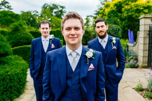 Blue Suit Groom Classic Timeless Oriental Twist Wedding http://www.aaroncollettphotography.co.uk/