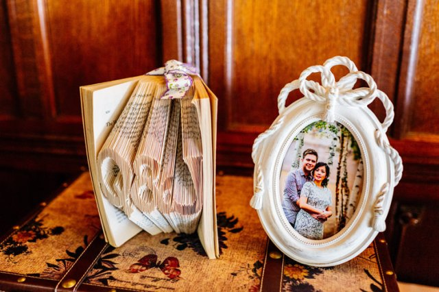 Letter Book Art Decor Classic Timeless Oriental Twist Wedding http://www.aaroncollettphotography.co.uk/