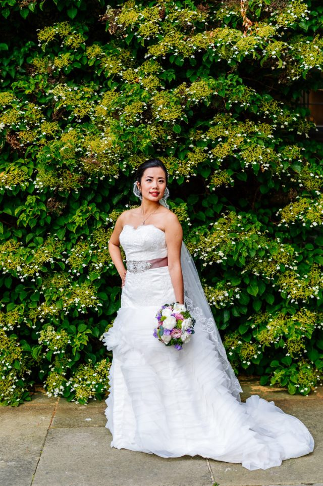 Lace Ruffle Skirt Dress Bride Classic Timeless Oriental Twist Wedding http://www.aaroncollettphotography.co.uk/