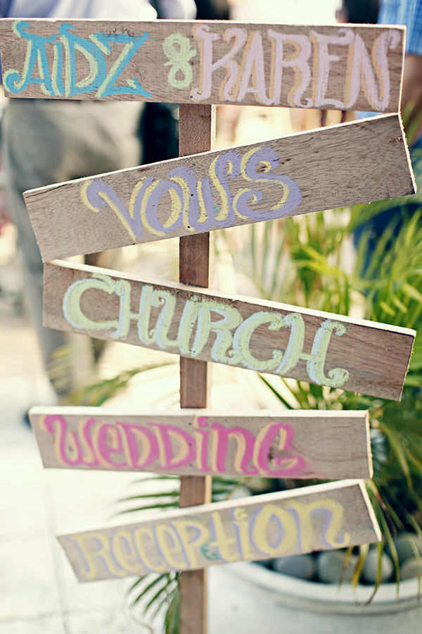 Pastel Rustic Wooden Sign Coachella Inspired Philippines Wedding http://wedoitforlove.net/