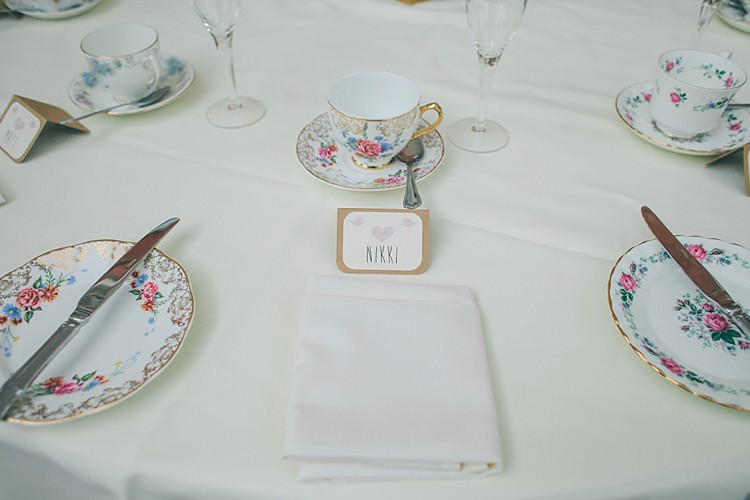 Vintage Crockery Relaxed Happy Classic Pink Afternoon Tea Wedding http://www.firsthandphotography.co.uk/