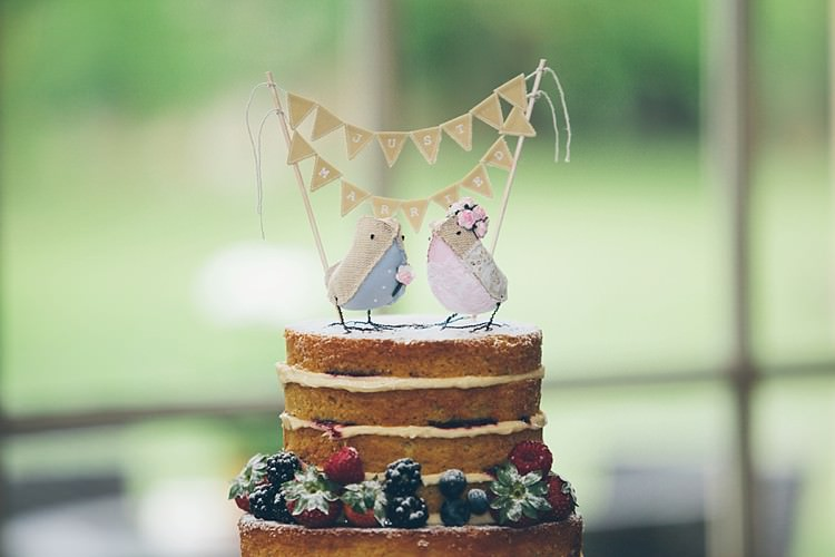 Bird Bunting Cake Topper Relaxed Happy Classic Pink Afternoon Tea Wedding http://www.firsthandphotography.co.uk/
