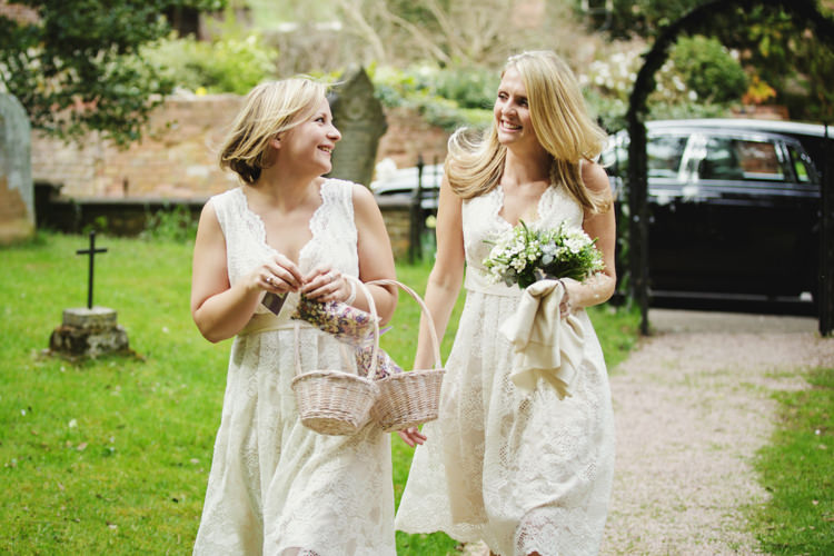 Lace Bridesmaid Dresses Natural Country Pub White Wedding http://www.gemmawilliamsphotography.co.uk/