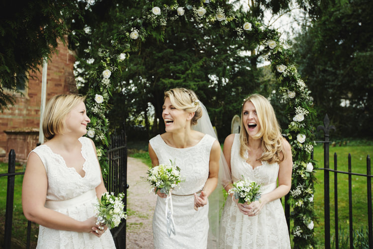 White Lace Bridesmaid Dresses Natural Country Pub White Wedding http://www.gemmawilliamsphotography.co.uk/