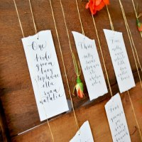 DIY Calligraphy Table Plan DIY Tutorial Flower Seating Chart