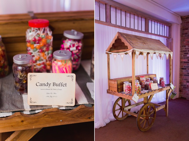Sweetie Cart Table Tweed Bow Ties Fresh Country Pink Green Wedding http://www.whitestagweddings.com/