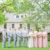 Romantic Pink Grey Outdoor Wedding Ontario http://www.nicoleamanda.ca/