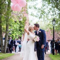 Whimsical Boho Glamour Pink Blue Gold Wedding http://www.sarareeve.com/