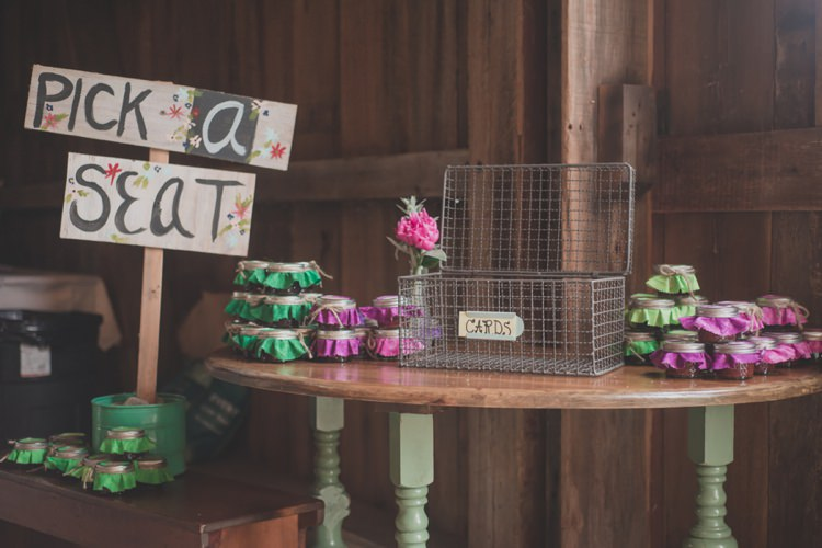 Escort Table Card Basket Vintage Bohemian Red Barn Wedding Illinois http://www.ronirosephotography.com/